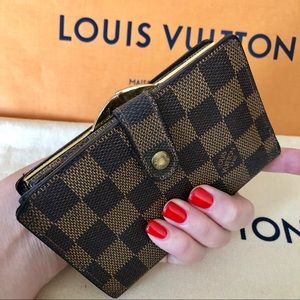 Louis Vuitton French Wallet Damier Ebene Vintage
